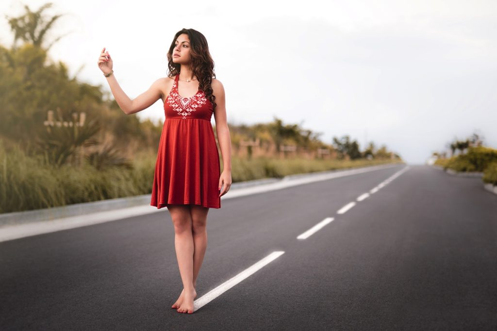 Belle de la Réunion 2016 sur une route infinie à la Réunion