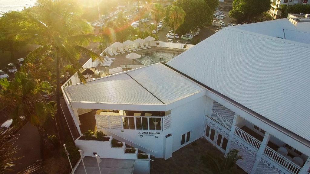 Vue aérienne par photo de drone à la Réunion - 974 - Hôtel & SPA Villa Delisle