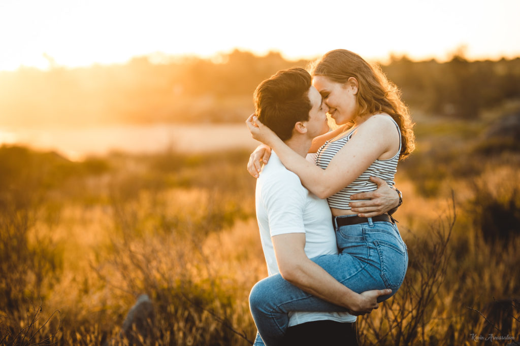 Photos d'un couple amoureux canadien à la Réunion